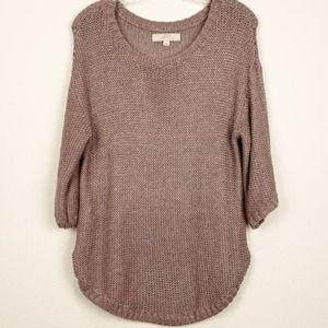 Ann Taylor LOFT Mauve Knit Sweater